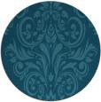 rug #307449 | round blue-green damask rug