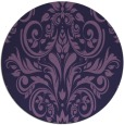 rug #307497   round purple damask rug