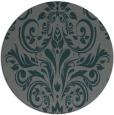 rug #307529 | round green damask rug
