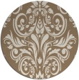 rug #307553 | round mid-brown traditional rug