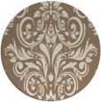 rug #307553 | round mid-brown damask rug