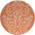 rug #307597   round orange damask rug