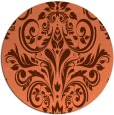 rug #307601   round red-orange traditional rug