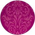 rug #307609 | round pink damask rug