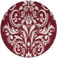 rug #307613 | round pink damask rug