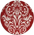 rug #307649   round red traditional rug