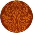 rug #307657 | round red-orange damask rug