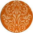 rug #307661 | round red-orange traditional rug