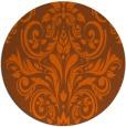 rug #307665   round red-orange rug