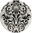 rug #307673 | round black rug