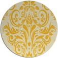 rug #307689 | round yellow traditional rug