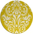 rug #307701 | round yellow traditional rug