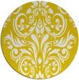 rug #307701 | round yellow damask rug