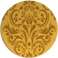 rug #307705 | round light-orange damask rug