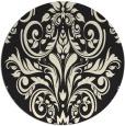 rug #307709 | round black damask rug