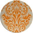 rug #307717 | round orange damask rug