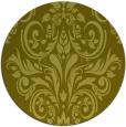 rug #307721 | round light-green damask rug