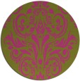 rug #307729 | round light-green damask rug