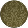 rug #307733 | round light-green damask rug