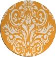 rug #307749   round light-orange damask rug