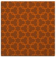 rug #308369 | square red-orange geometry rug