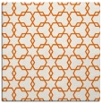 rug #308373 | square red-orange geometry rug