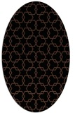 rug #308473 | oval brown rug