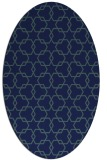rug #308489   oval blue rug