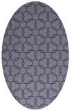 rug #308545   oval blue-violet geometry rug