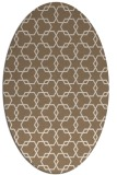 rug #308609 | oval beige geometry rug