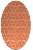 rug #308653 | oval orange rug