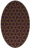 rug #308685 | oval green popular rug