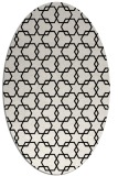 rug #308729 | oval white geometry rug