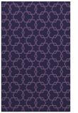 rug #308905 |  blue-violet geometry rug