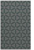 rug #308937 |  blue-green geometry rug