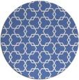 rug #309201 | round blue geometry rug