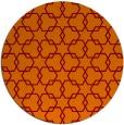 rug #309349 | round orange geometry rug