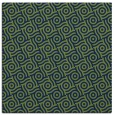 rug #311661 | square blue circles rug