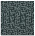 rug #311753 | square blue-green rug