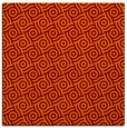 rug #311813 | square orange circles rug