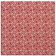 rug #311865 | square red circles rug