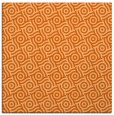 rug #311885 | square red-orange circles rug