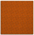 rug #311889 | square red-orange circles rug