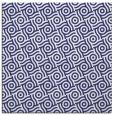 rug #311905 | square blue circles rug