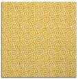 rug #311913   square yellow circles rug