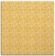 rug #311961 | square light-orange circles rug