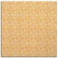 rug #311973 | square light-orange circles rug