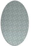 rug #312001 | oval white geometry rug