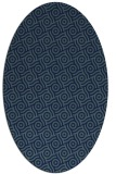 rug #312009 | oval blue-green circles rug