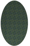 rug #312013 | oval green geometry rug